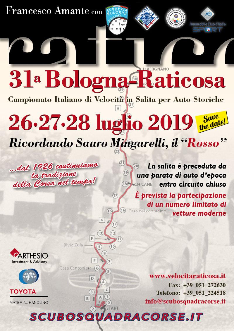 31a Bologna - Raticosa: Campionato Italiano Velocità in salita 26-28 Luglio 2019